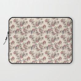 Cream Vintage Flowers Laptop Sleeve