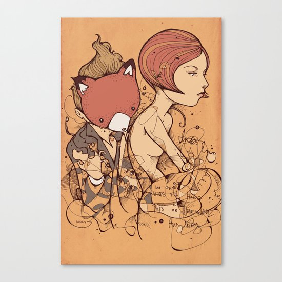 Leaves falling Canvas Print