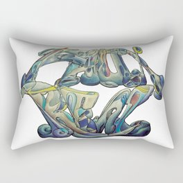 Faux Real - This is Not Typography Rectangular Pillow