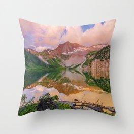 Snowmass Lake Throw Pillow
