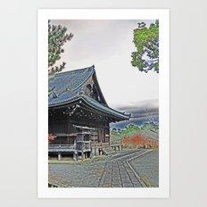 Temple at Dusk Art Print