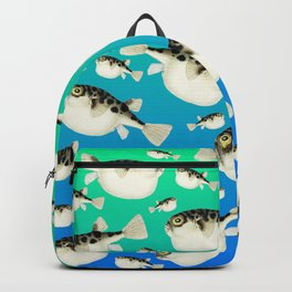 Puffer Pattern Turquoise Teal Blue Backpack