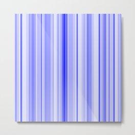Blue Vertical Stripe Metal Print