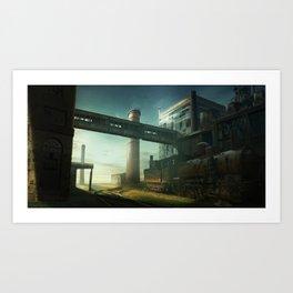 Lonely rails Art Print