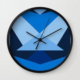 Geometric Blue Wall Clock