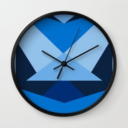 Geometric Blue Wall Clock