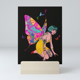 Happiness is a butterfly Mini Art Print