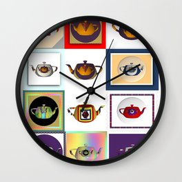 Teapots in Abstract Wall Clock