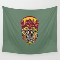 african Wall Tapestries featuring African King by Sandyshow