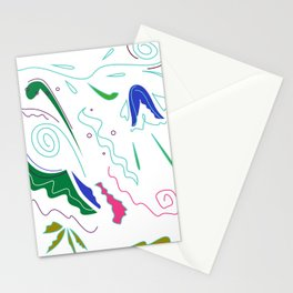 Luxury ornaments white green Stationery Cards