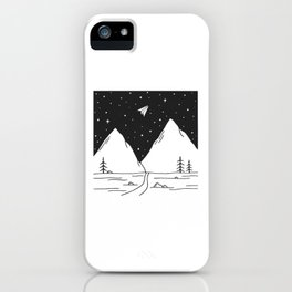 """Fly Away"" - Paper Plane Landscape iPhone Case"