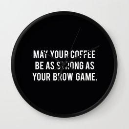 Brow game Wall Clock