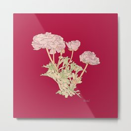 Ranunculus bunch - red Metal Print