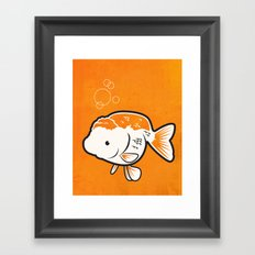 Ranchu Goldfish Framed Art Print