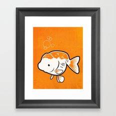 Ranchu Goldfish Framed Art Print