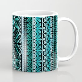 fair isle star in teal Coffee Mug