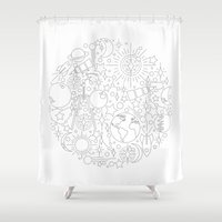 astronomy Shower Curtains featuring Astronomy by Jordan Moyer