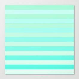 Green Teal Stripe Fade Canvas Print