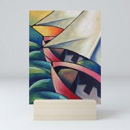 The boats Mini Art Print