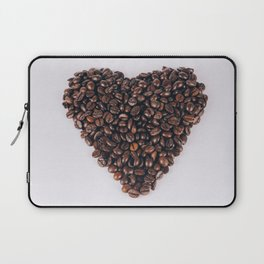 Heart of coffee beans Laptop Sleeve