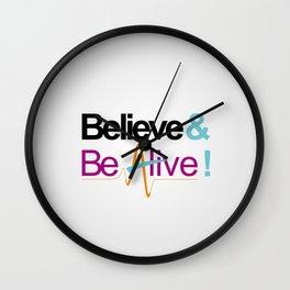 Believe & Be Alive! -V6SilverPurple- Wall Clock