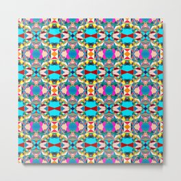 184 - Hot Air Balloons Abstract Pattern Metal Print