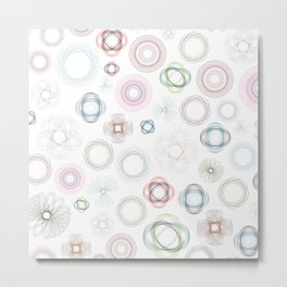 Geometric Flower Garden Metal Print