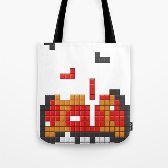 Super Mario Mushroom Tetris Tote Bag