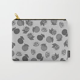 Naranja Pattern Black and White Carry-All Pouch