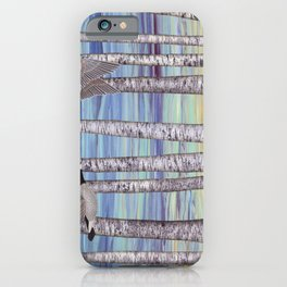 Canada geese, hedgehogs, and autumn birch trees iPhone Case