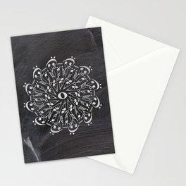 Musical mandala on chalkboard Stationery Cards