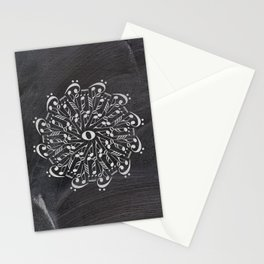 Musical mandala on chalkboard Stationery Cards
