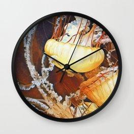 Jellies I Wall Clock