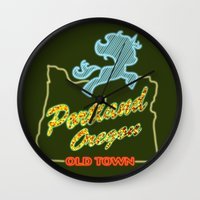 mlp Wall Clocks featuring MLP PDX by Kimball Gray