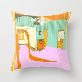 ROOM SPILL Throw Pillow