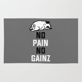 NO PAIN NO GAINZ Rug