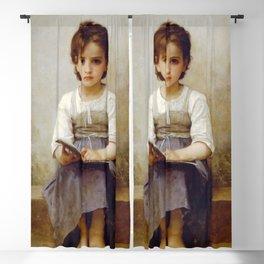 """William-Adolphe Bouguereau """"La Leçon Difficile (The difficult lesson)""""(1884) Blackout Curtain"""