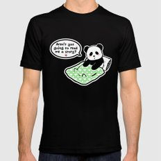 Read panda a story Mens Fitted Tee Black MEDIUM