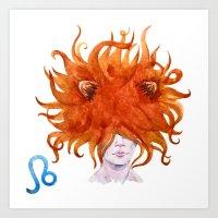 leo Art Prints featuring Leo by Aloke Design