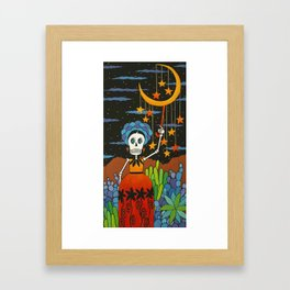 She Hangs the Stars Framed Art Print