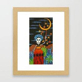 She Hangs the Stars Framed Art Print