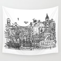 Busy City – Bristol, UK Wall Tapestry