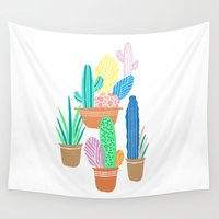 cactus Wall Tapestries featuring Cactus by Veils and Mirrors