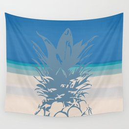 Pineapple Tropical Beach Design Wall Tapestry