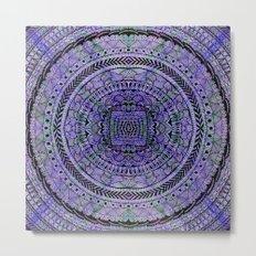 Zentangle Mandala Metal Print
