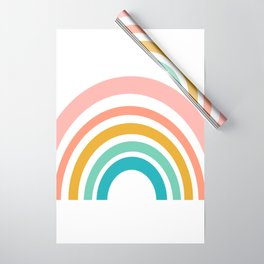 Simple Happy Rainbow Art Wrapping Paper