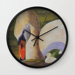 Calm of swan | Le calme du cygne Wall Clock