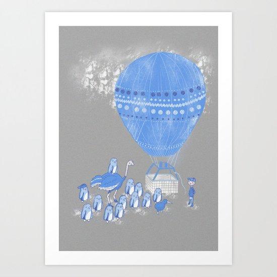 Baloon rides Art Print