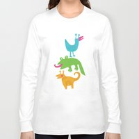 monsters Long Sleeve T-shirts featuring monsters by LOLIA-LOVA