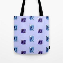 Step-Cut Pattern Tote Bag